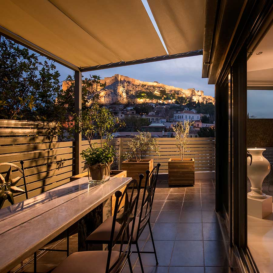Presidential apartment in Plaka with panoramic Acropolis ...